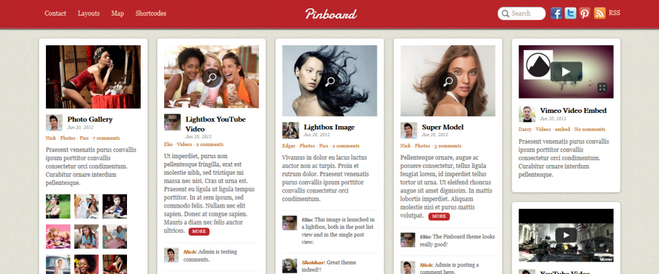 Pinterest-style WordPress Themes