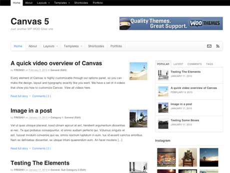 Canvas Framework