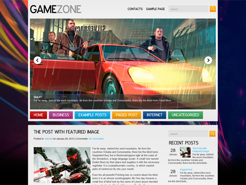 GameZone Theme