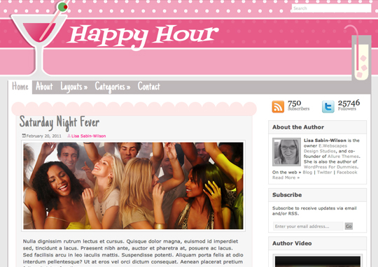 Happy Hour Theme