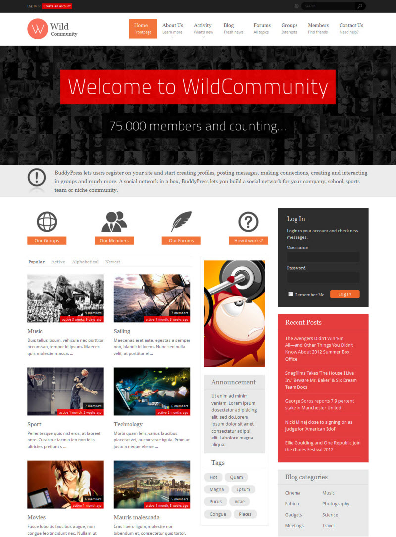 WildCommunity Theme