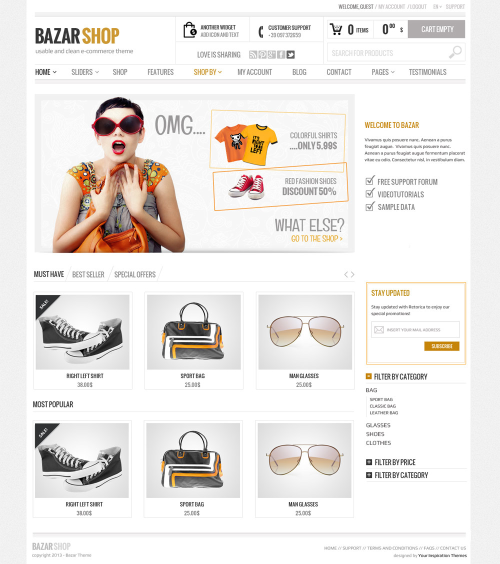 Bazar Shop Theme