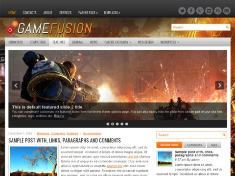 GameFusion Theme
