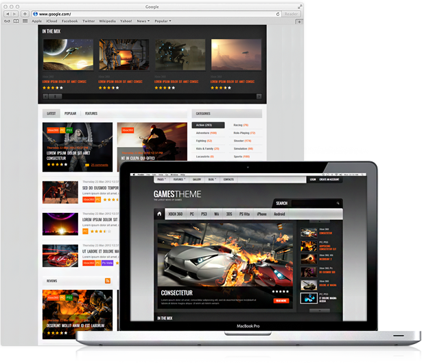 15+ WordPress Gaming Themes for 2014