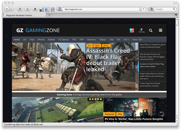 GamingZone Theme