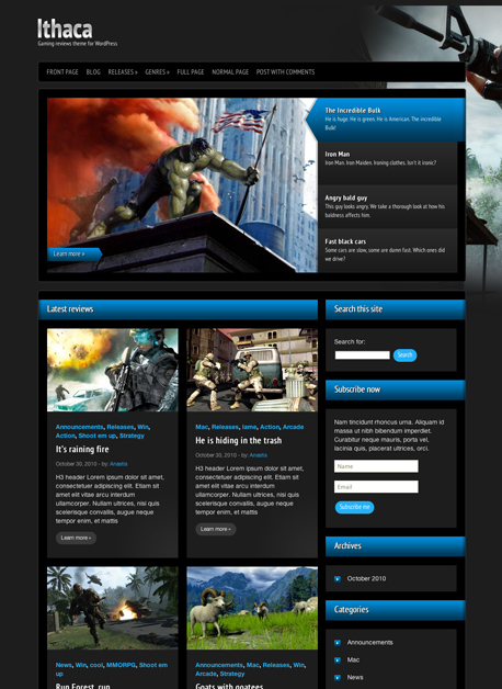 15+ Best WordPress Gaming Themes 2013 | OnWPThemes