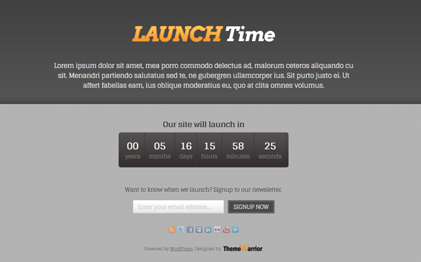 LaunchTime Theme