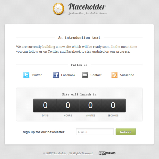 Placeholder Theme
