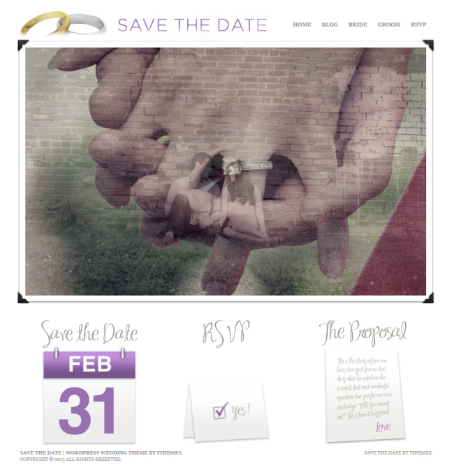 Save the Date Theme