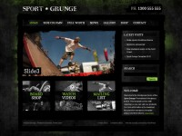 Sport and Grunge Theme