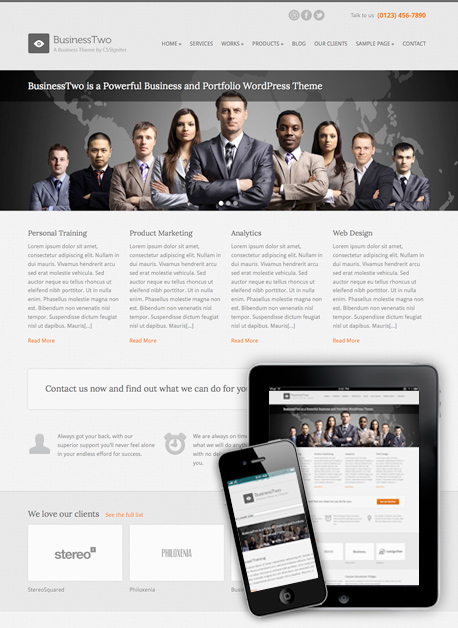 BusinessTwo Theme
