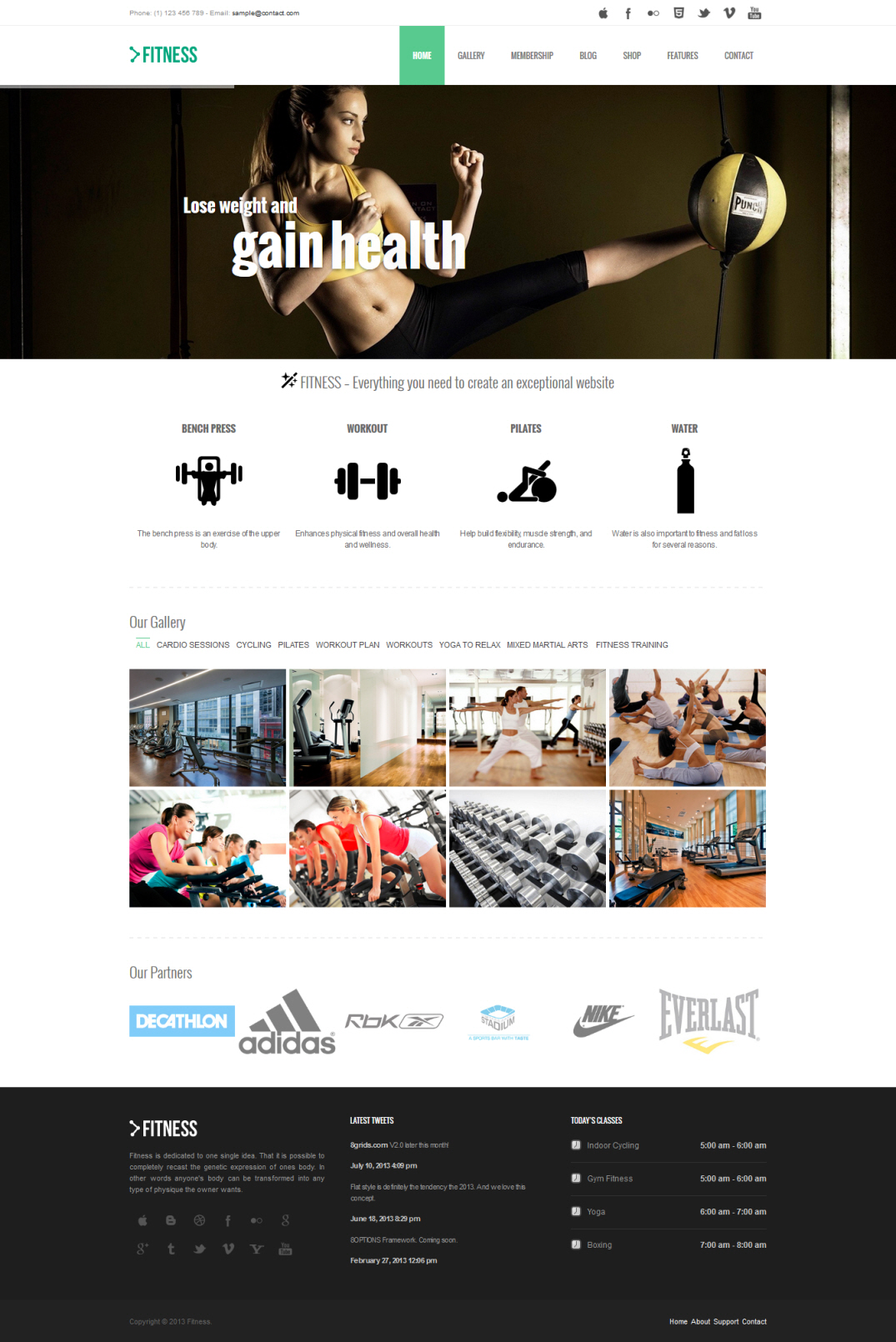 8Grids Fitness Theme