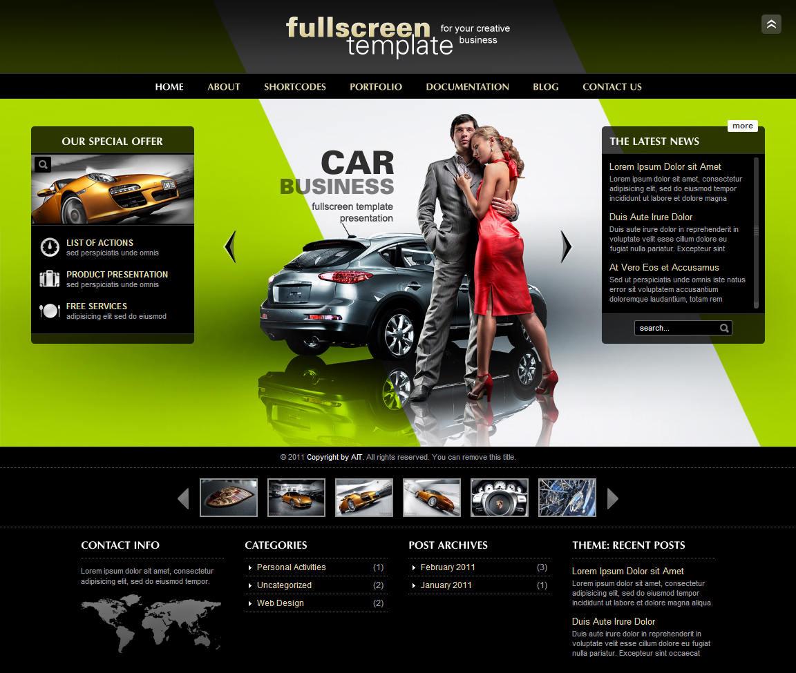 Ait Fullscreen Car Business