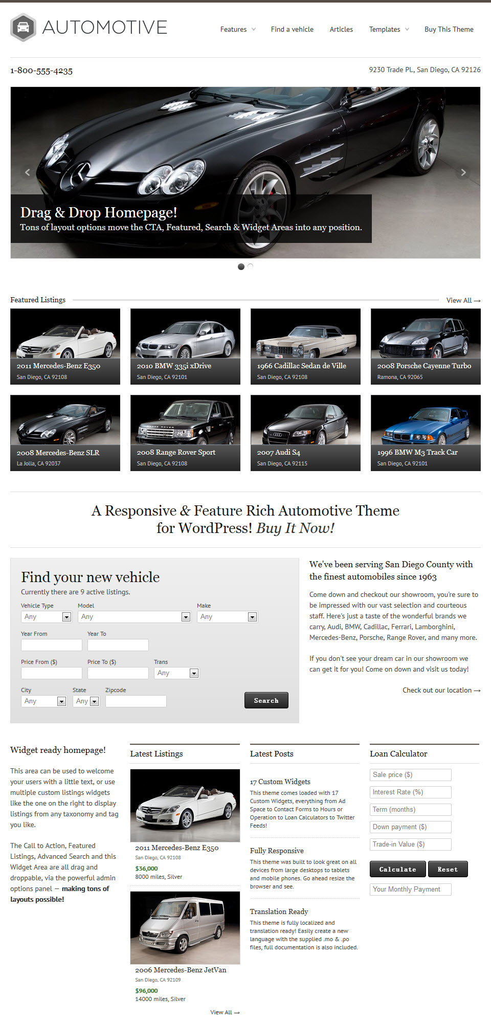 WP Pro Automotive Theme