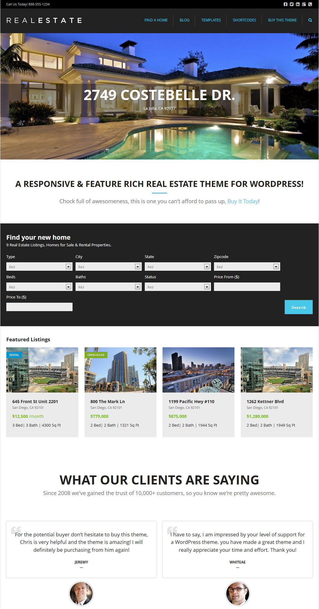 WP Pro Real Estate 5 Theme
