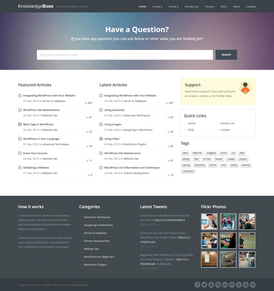 Knowledge Base Theme