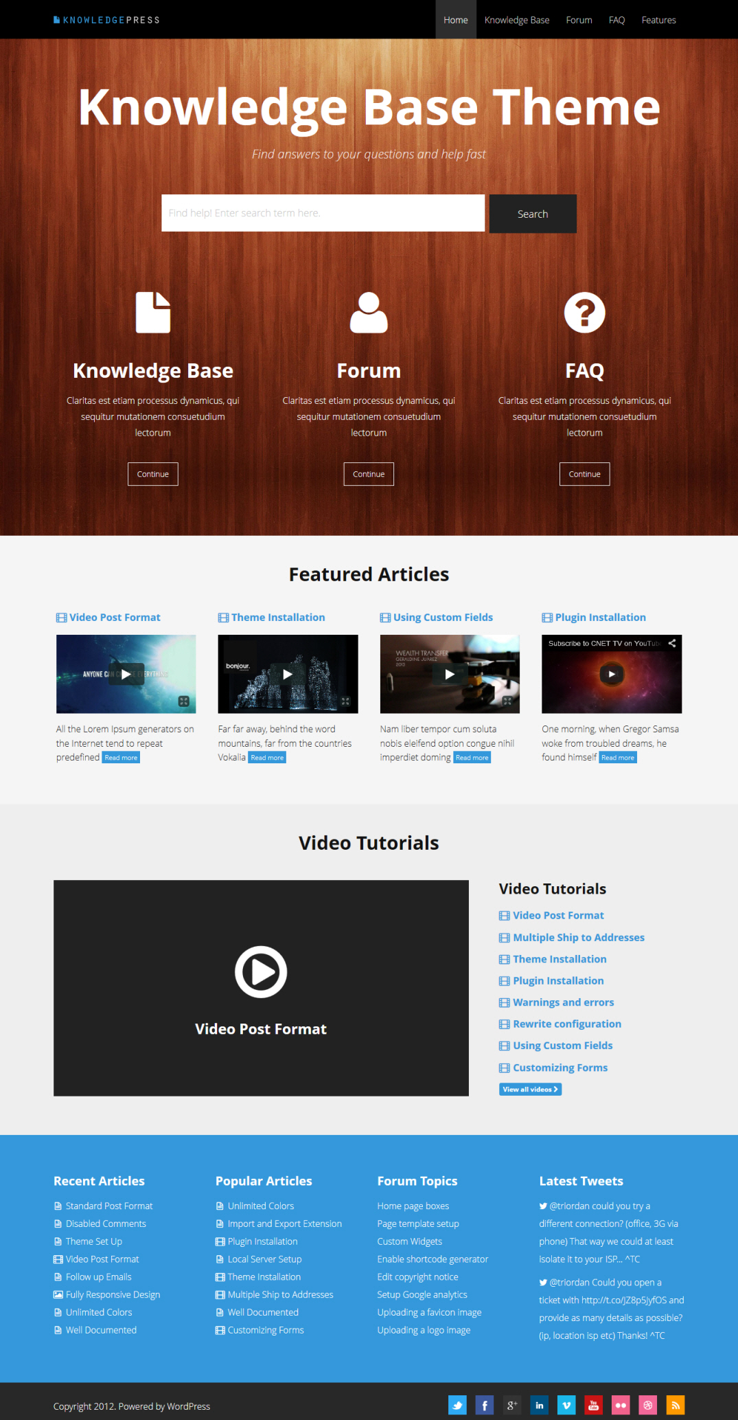 Knowledge Press Theme