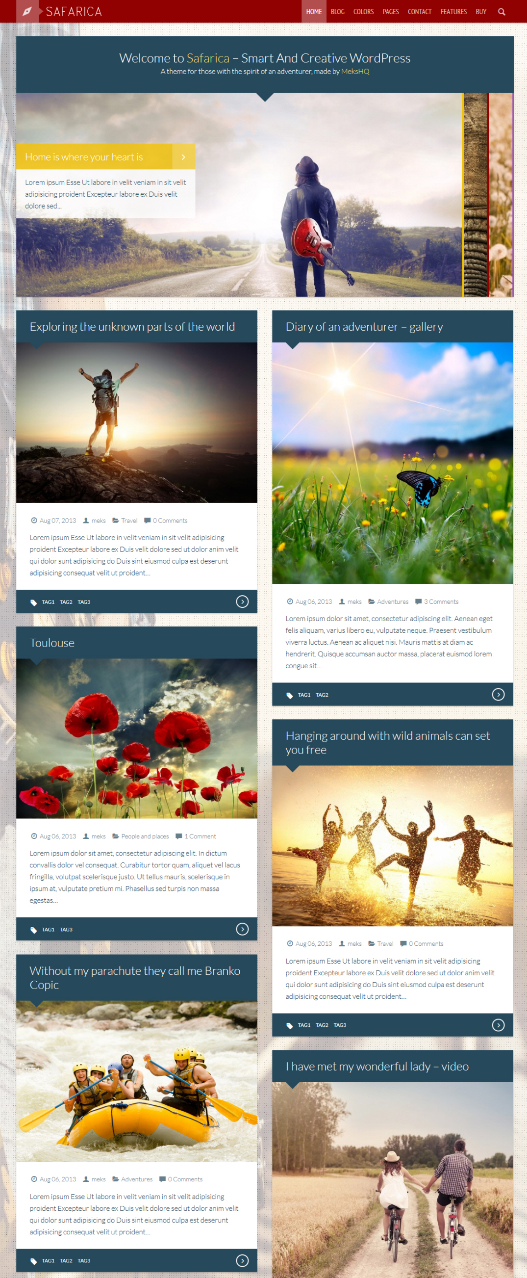 Safarica Theme