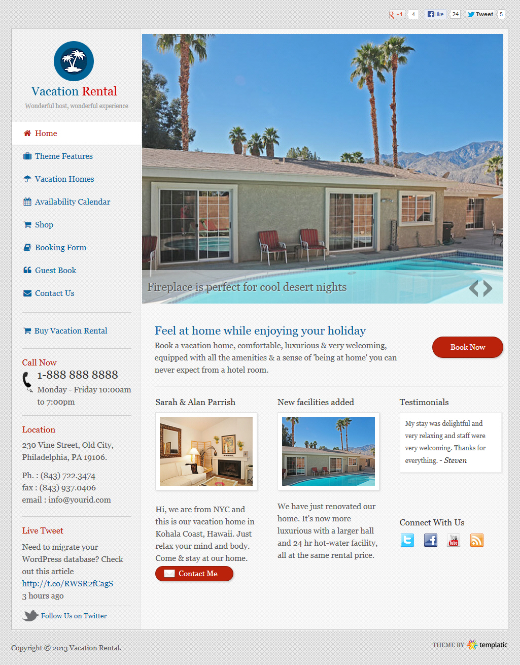 Vacation Rental Theme