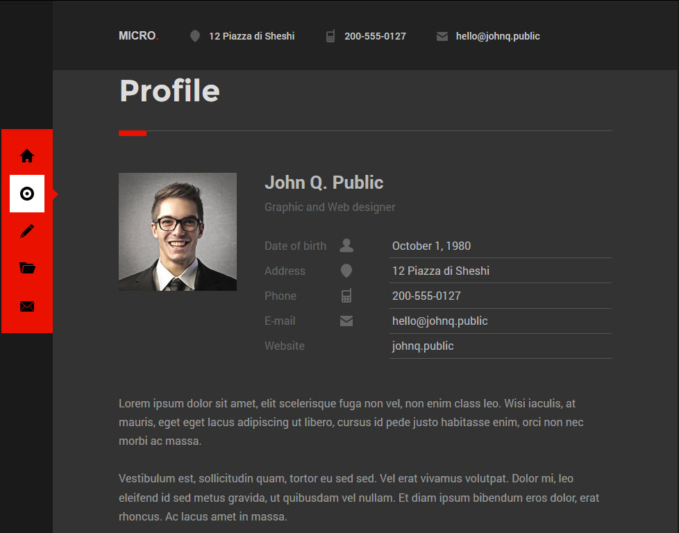 WordPress vCard Themes | Download Premium WP Themes