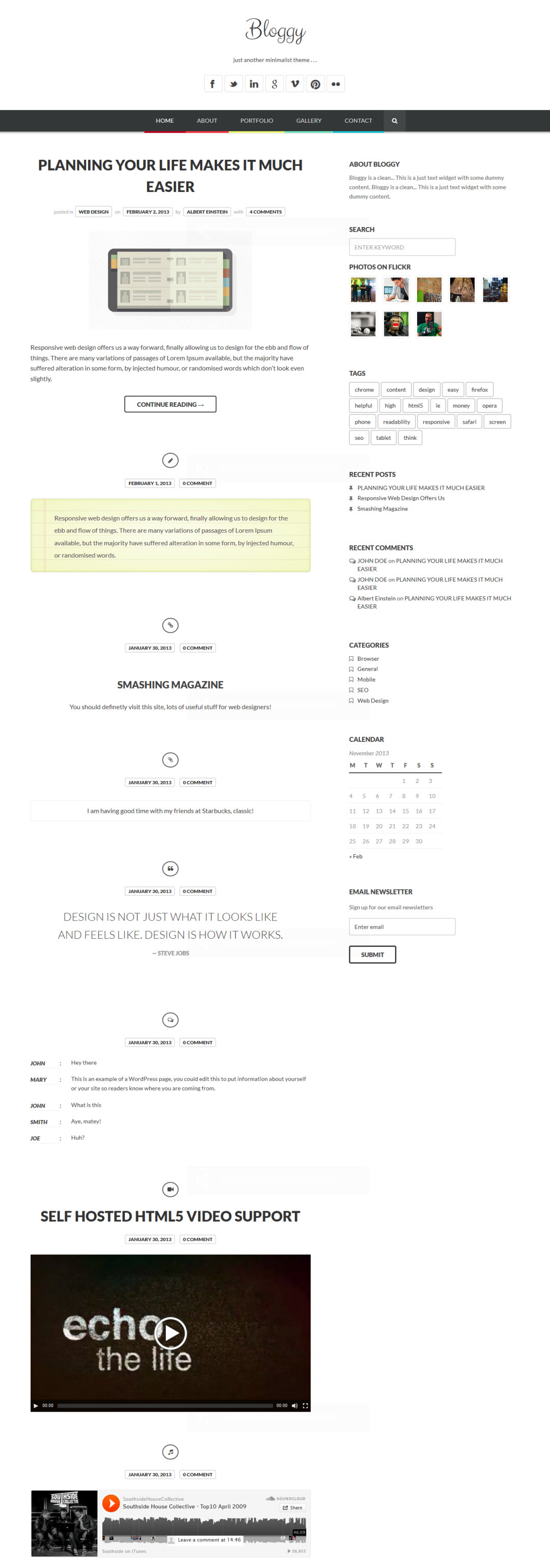 Bloggy WP Theme