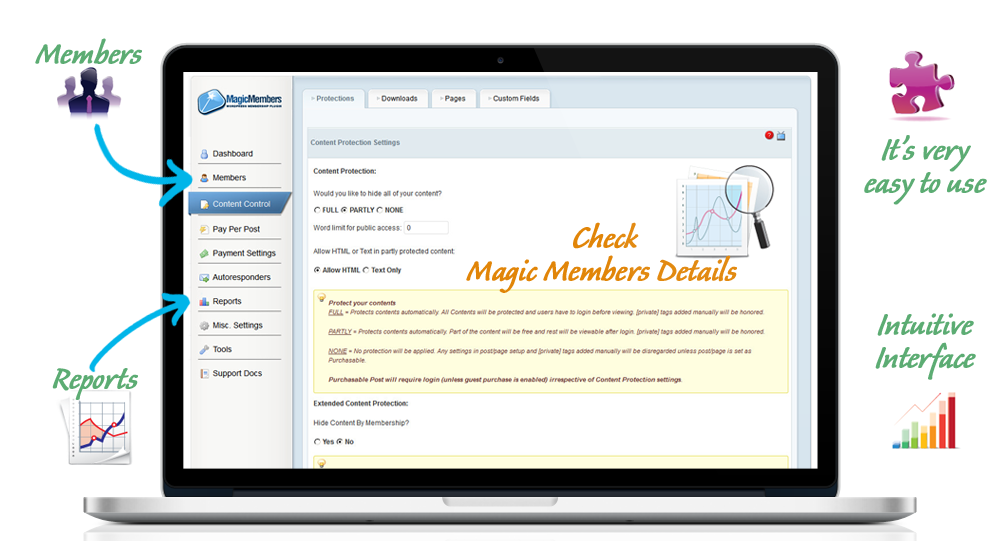 magic members plugin