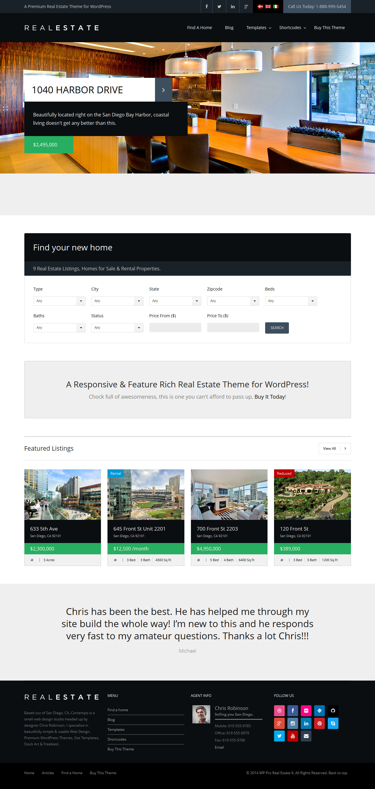 WP Pro Real Estate 6 Theme