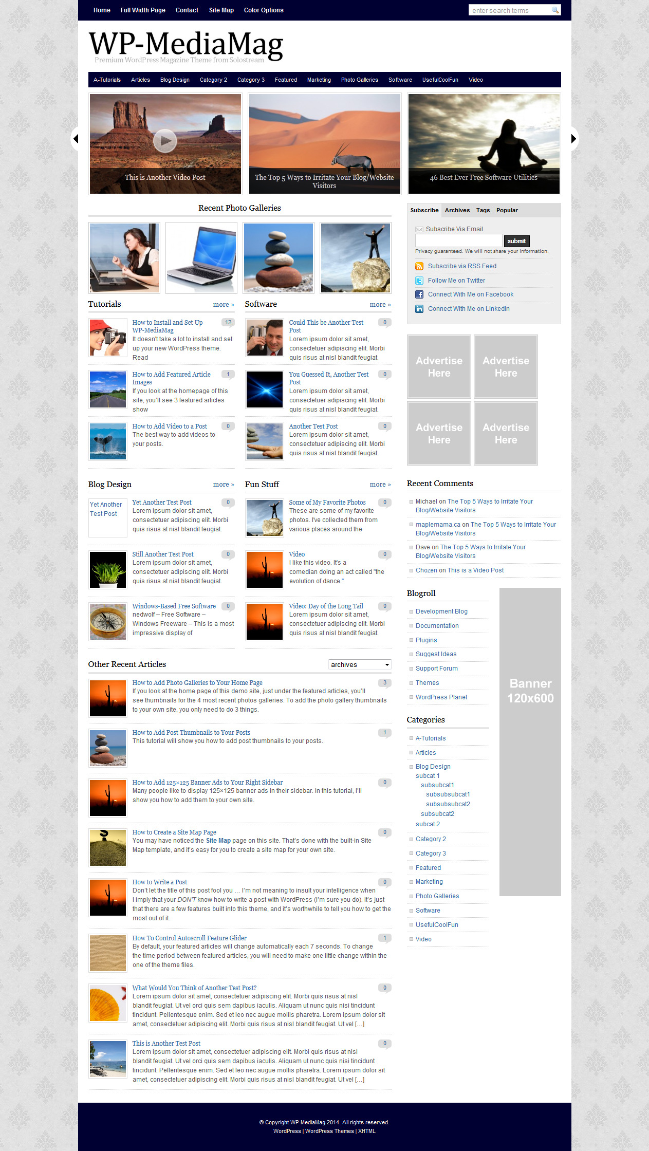 WP-Mediamag Theme