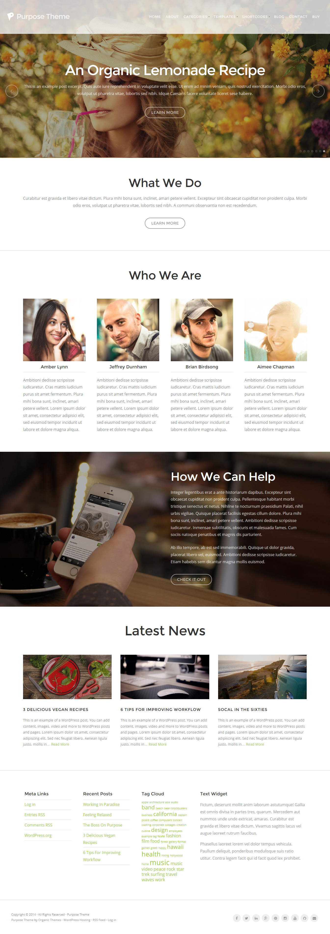 Purpose theme