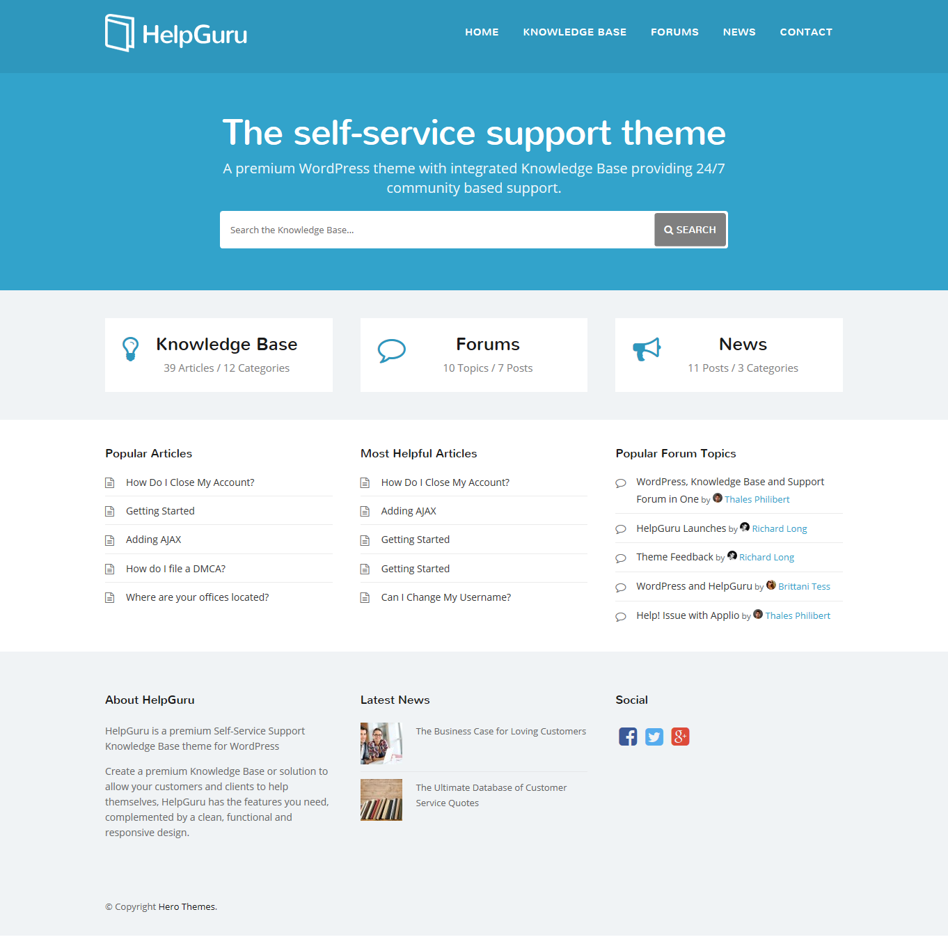 HelpGuru theme