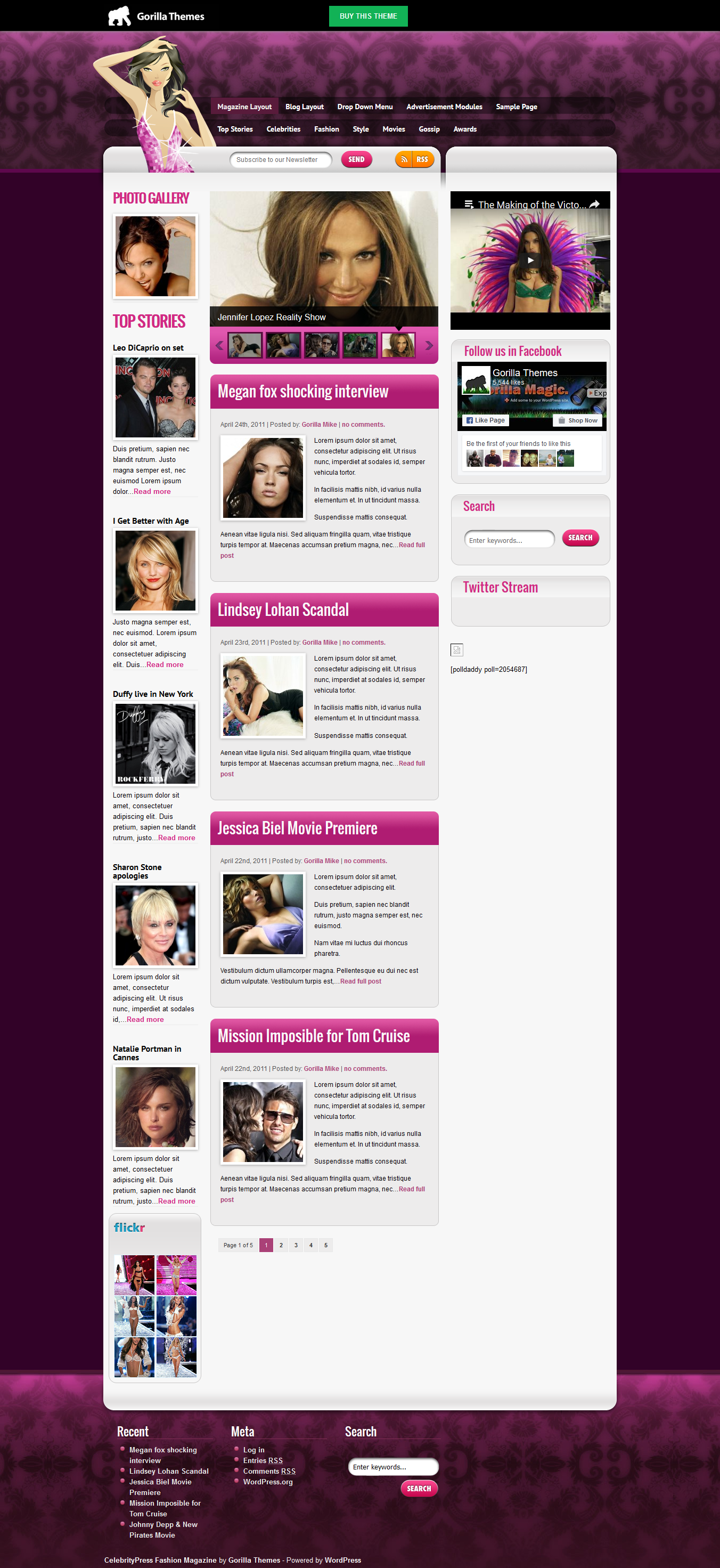CelebrityPress theme