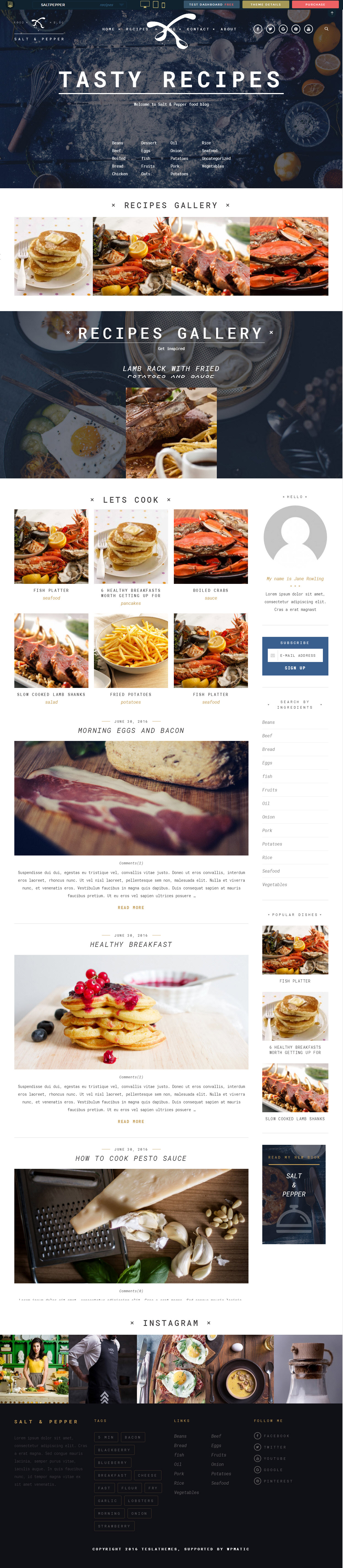 tasty & recipes theme