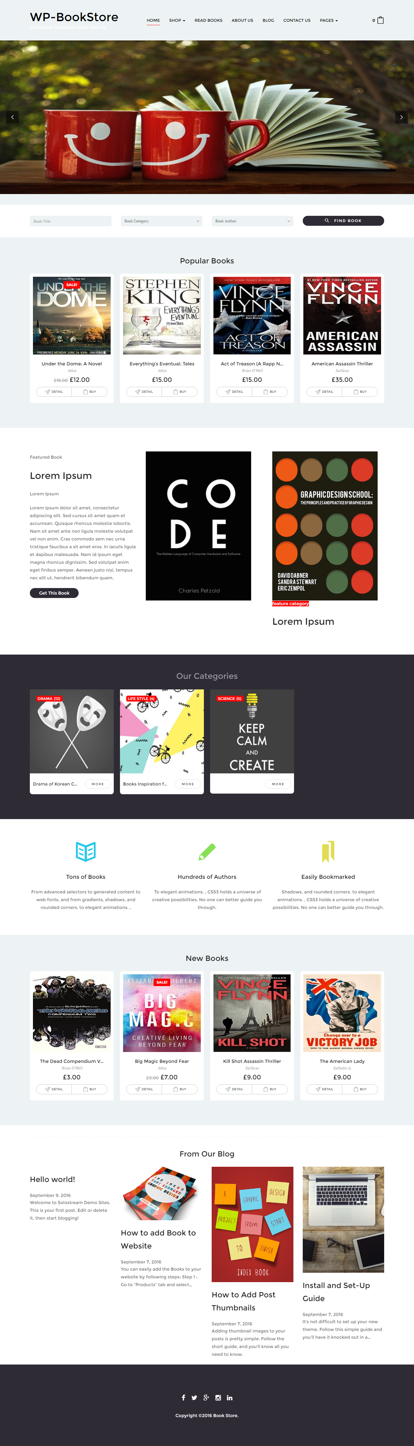 WP-BookStore theme