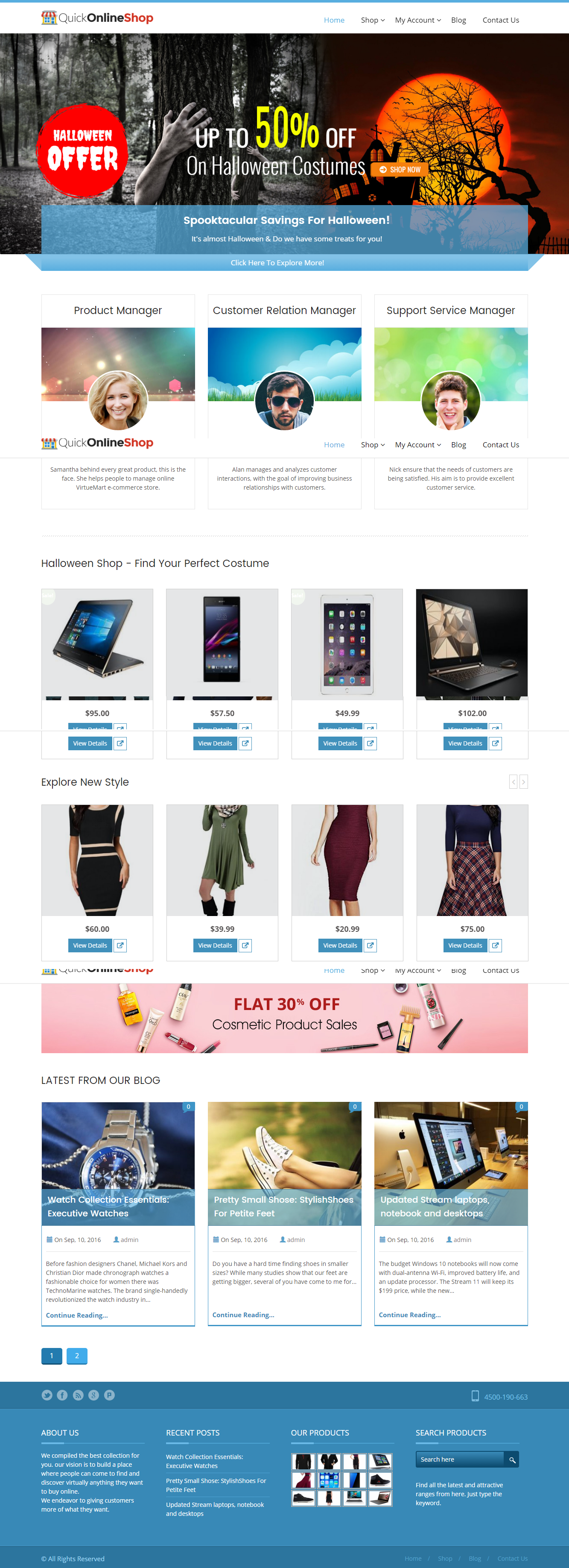 QuickOnlineShop theme