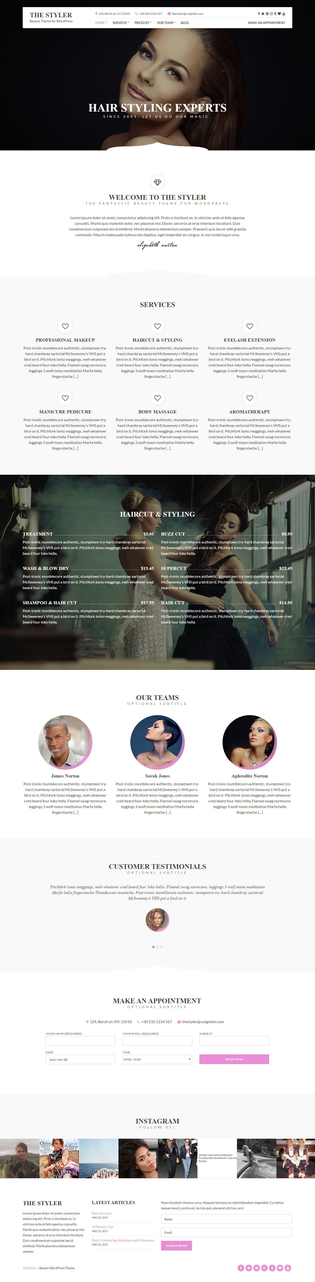 Beauty Wordpress Themes | Download Premium WP Themes