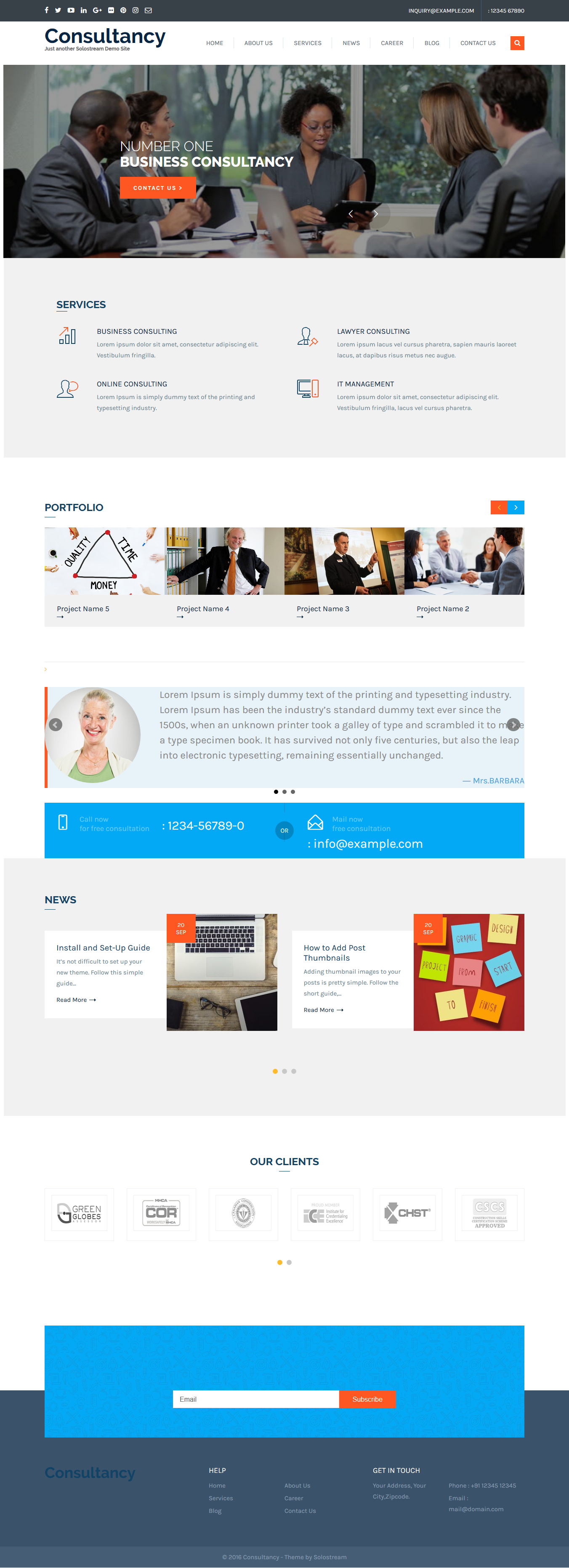 wp-consultancy theme