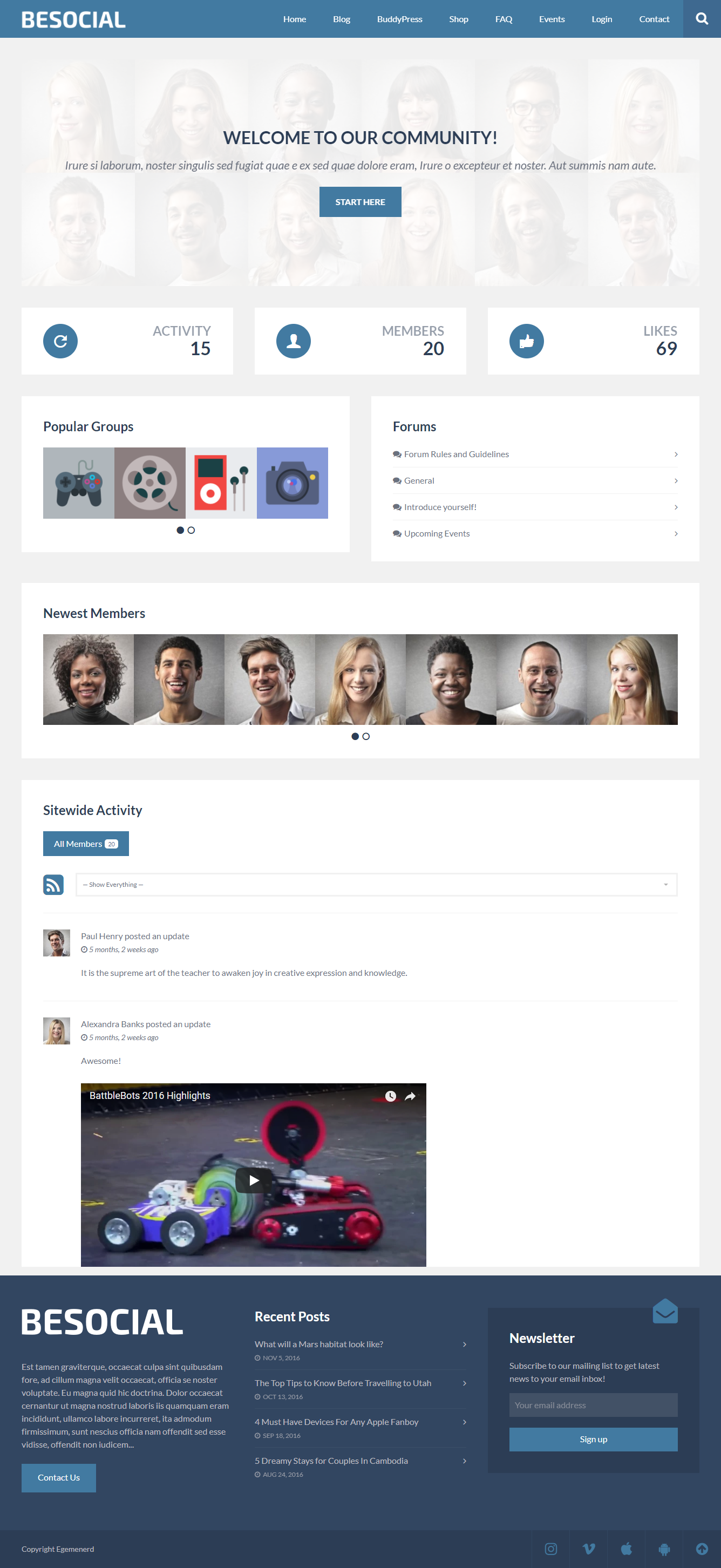Besocial theme