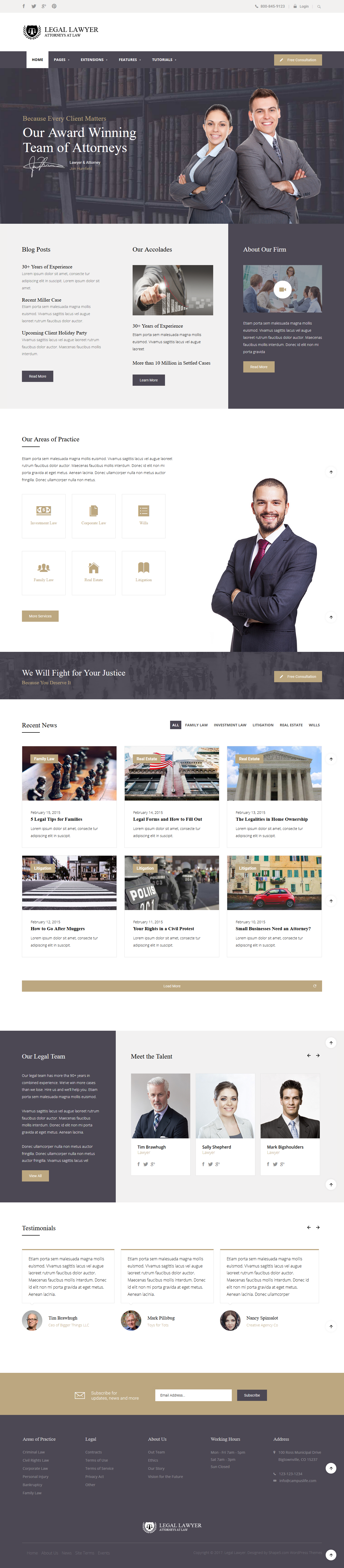 Legal Lawyer theme