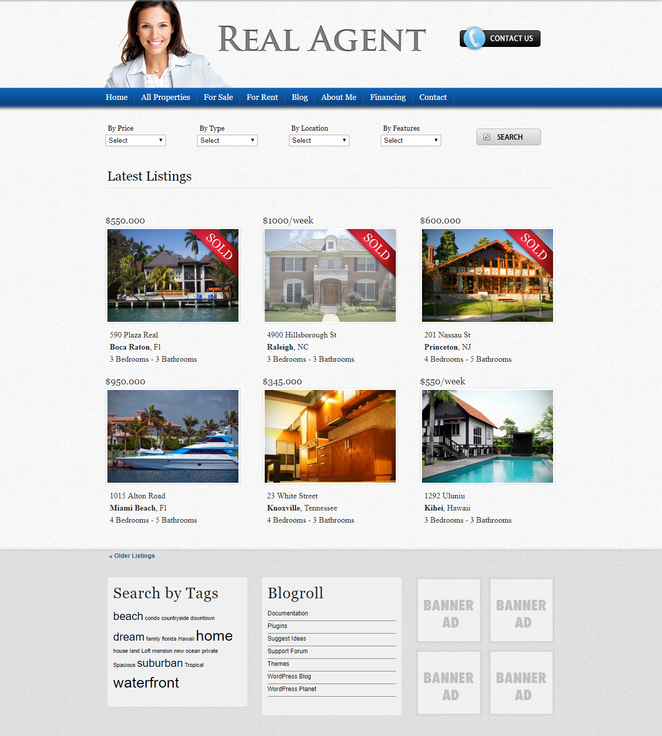 Real Agent theme